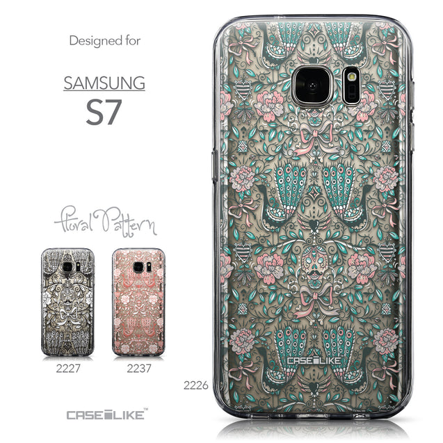 Collection - CASEiLIKE Samsung Galaxy S7 back cover Roses Ornamental Skulls Peacocks 2226