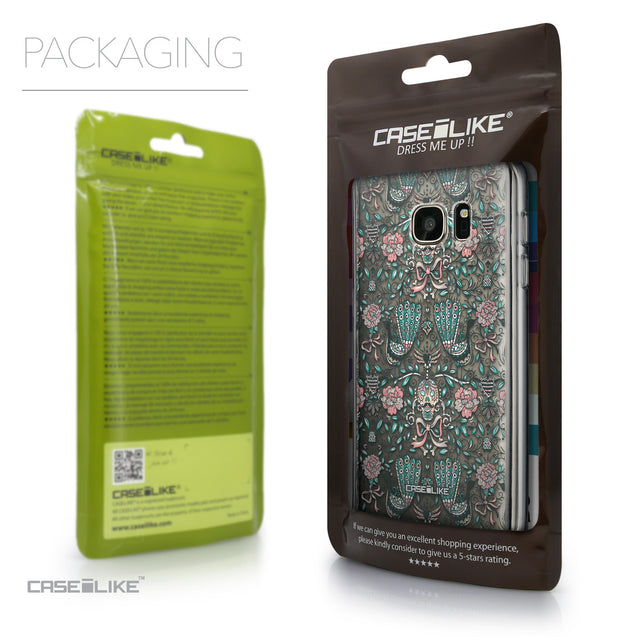 Packaging - CASEiLIKE Samsung Galaxy S7 back cover Roses Ornamental Skulls Peacocks 2226