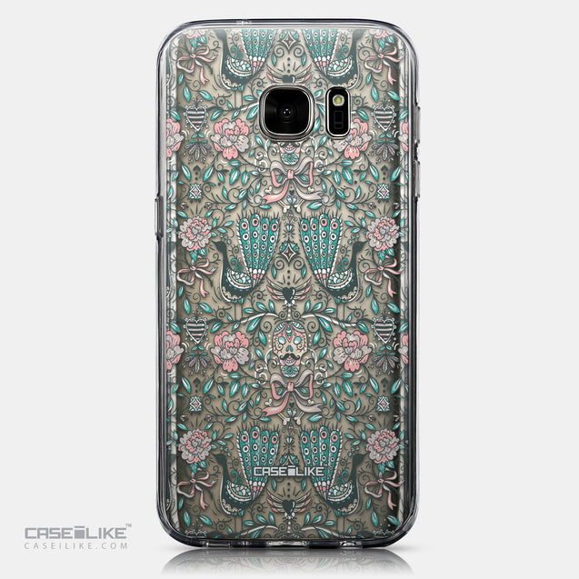 CASEiLIKE Samsung Galaxy S7 back cover Roses Ornamental Skulls Peacocks 2226