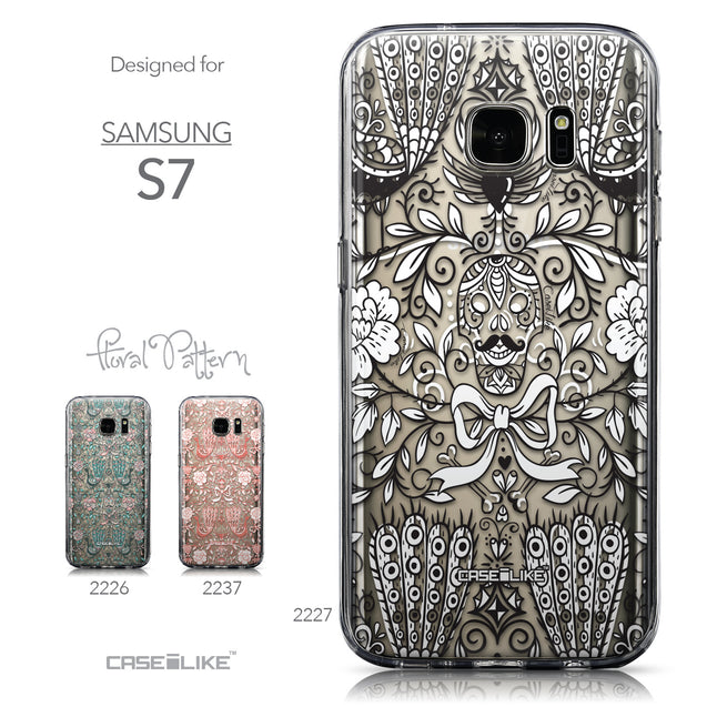 Collection - CASEiLIKE Samsung Galaxy S7 back cover Roses Ornamental Skulls Peacocks 2227