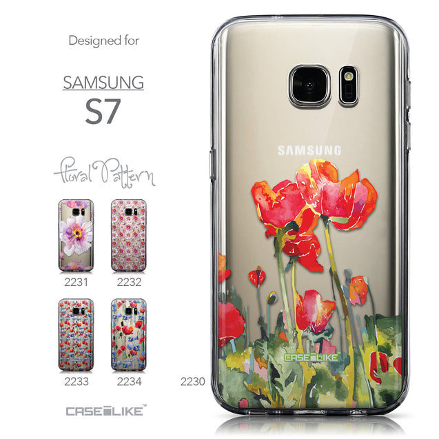 Collection - CASEiLIKE Samsung Galaxy S7 back cover Watercolor Floral 2230