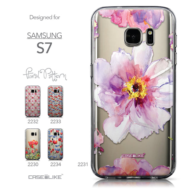 Collection - CASEiLIKE Samsung Galaxy S7 back cover Watercolor Floral 2231