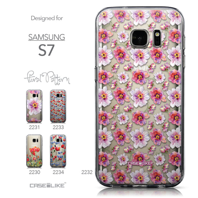 Collection - CASEiLIKE Samsung Galaxy S7 back cover Watercolor Floral 2232
