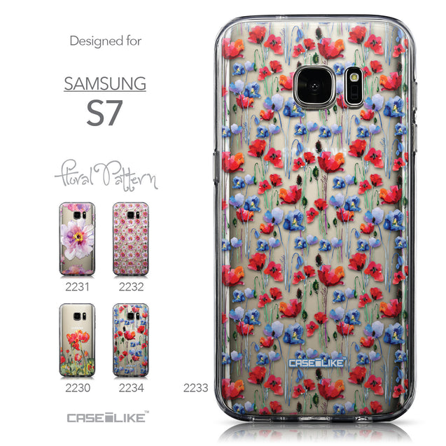 Collection - CASEiLIKE Samsung Galaxy S7 back cover Watercolor Floral 2233