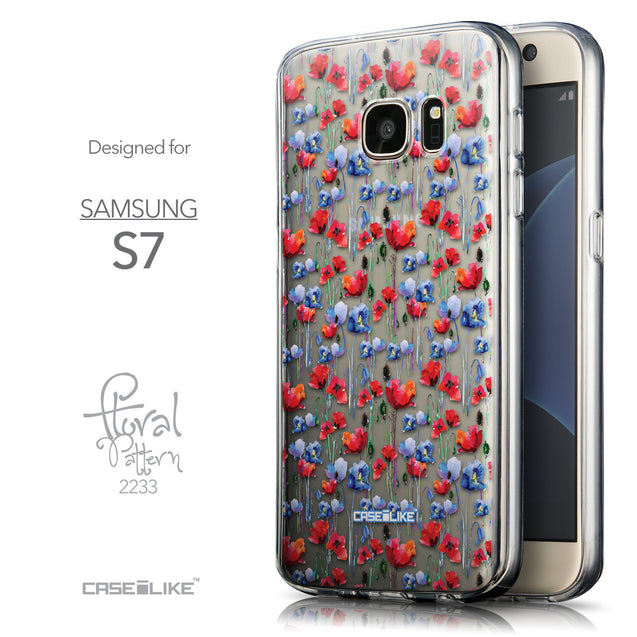 Front & Side View - CASEiLIKE Samsung Galaxy S7 back cover Watercolor Floral 2233