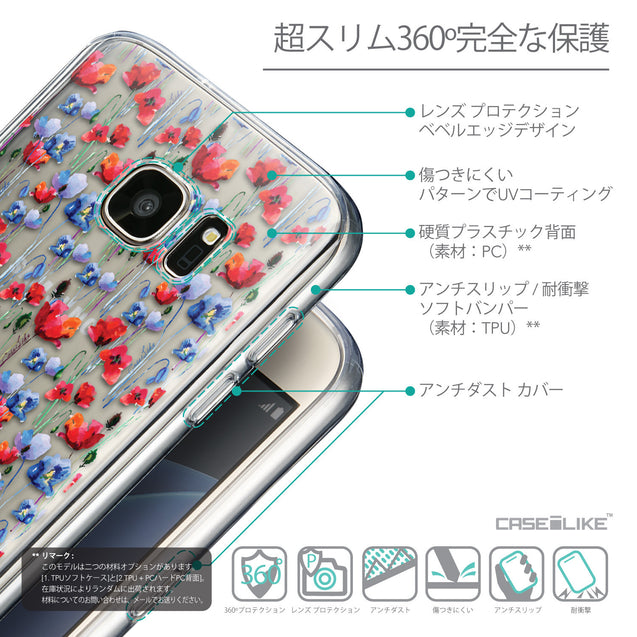 Details in Japanese - CASEiLIKE Samsung Galaxy S7 back cover Watercolor Floral 2233