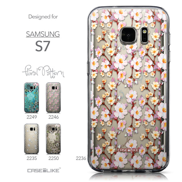 Collection - CASEiLIKE Samsung Galaxy S7 back cover Watercolor Floral 2236