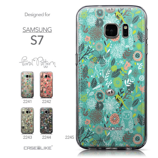 Collection - CASEiLIKE Samsung Galaxy S7 back cover Spring Forest Turquoise 2245