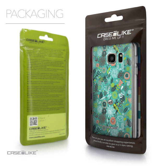 Packaging - CASEiLIKE Samsung Galaxy S7 back cover Spring Forest Turquoise 2245