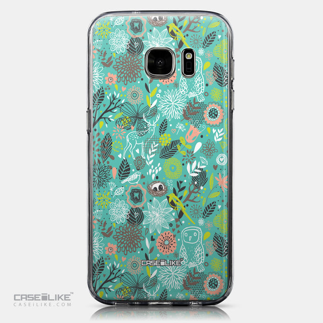 CASEiLIKE Samsung Galaxy S7 back cover Spring Forest Turquoise 2245