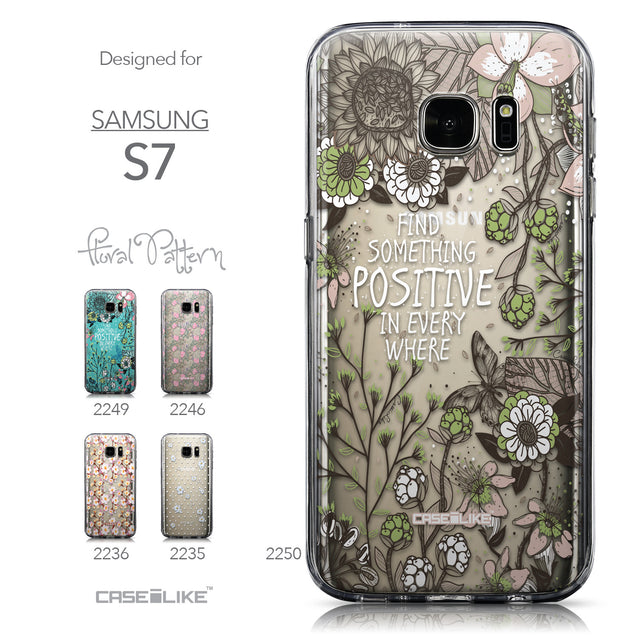 Collection - CASEiLIKE Samsung Galaxy S7 back cover Blooming Flowers 2250
