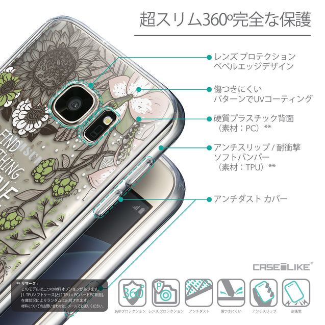 Details in Japanese - CASEiLIKE Samsung Galaxy S7 back cover Blooming Flowers 2250