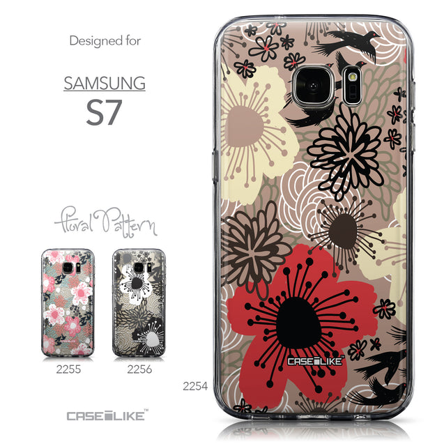 Collection - CASEiLIKE Samsung Galaxy S7 back cover Japanese Floral 2254