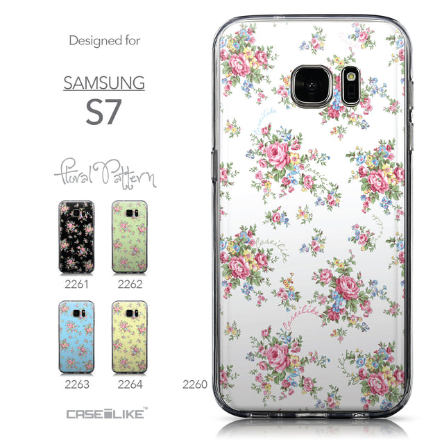 Collection - CASEiLIKE Samsung Galaxy S7 back cover Floral Rose Classic 2260
