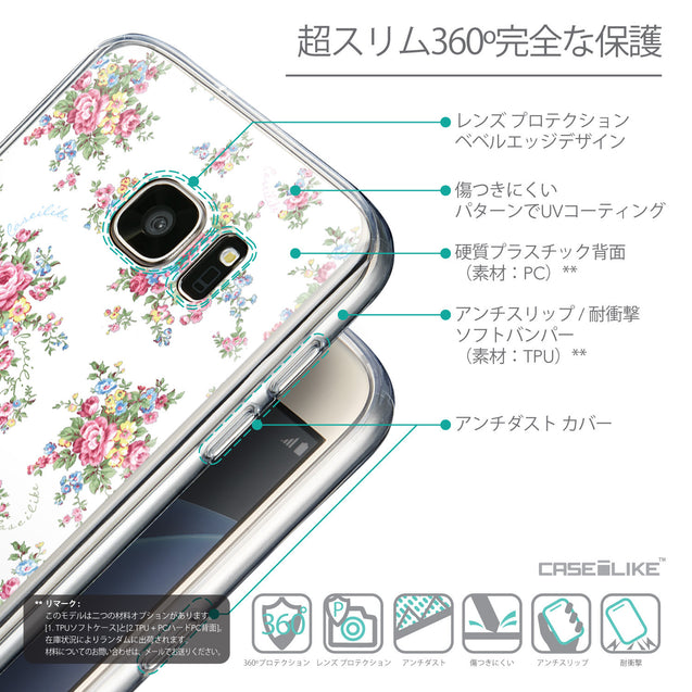 Details in Japanese - CASEiLIKE Samsung Galaxy S7 back cover Floral Rose Classic 2260
