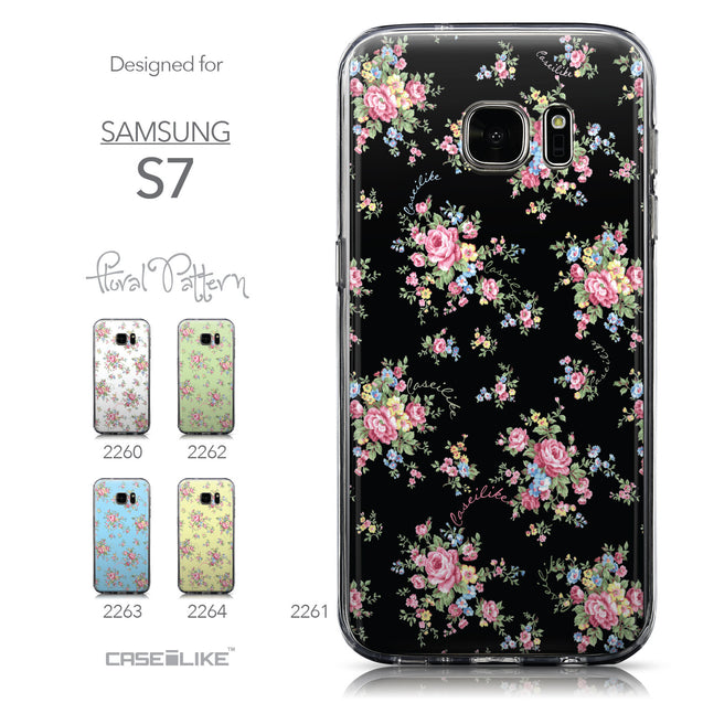 Collection - CASEiLIKE Samsung Galaxy S7 back cover Floral Rose Classic 2261