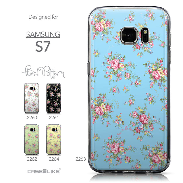 Collection - CASEiLIKE Samsung Galaxy S7 back cover Floral Rose Classic 2263