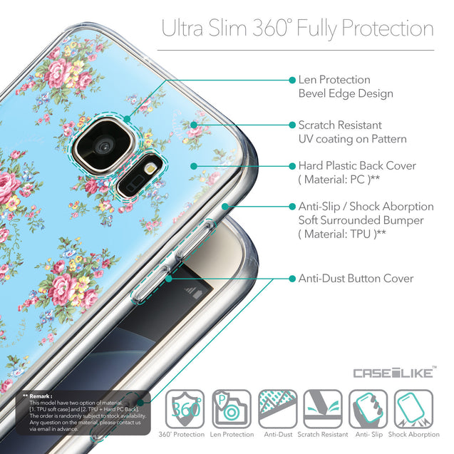 Details in English - CASEiLIKE Samsung Galaxy S7 back cover Floral Rose Classic 2263