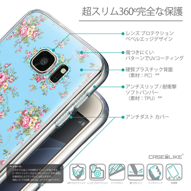 Details in Japanese - CASEiLIKE Samsung Galaxy S7 back cover Floral Rose Classic 2263