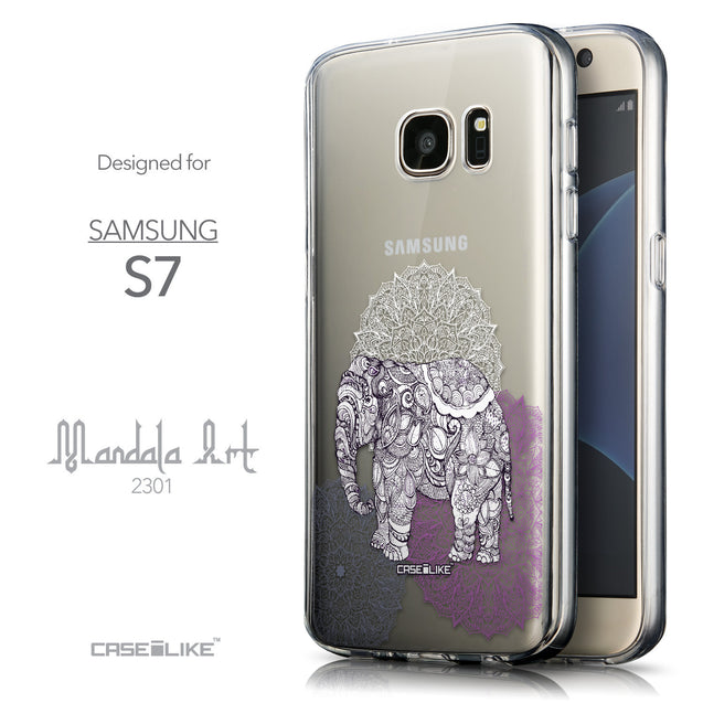 Front & Side View - CASEiLIKE Samsung Galaxy S7 back cover Mandala Art 2301
