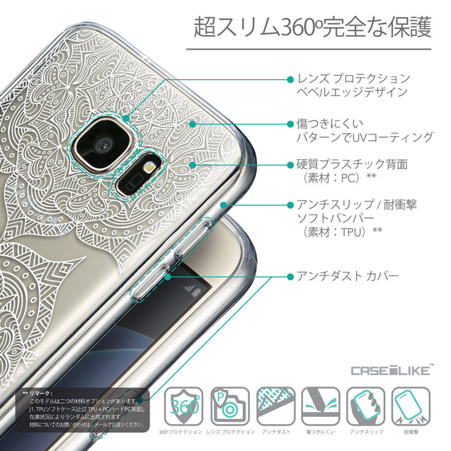 Details in Japanese - CASEiLIKE Samsung Galaxy S7 back cover Mandala Art 2303
