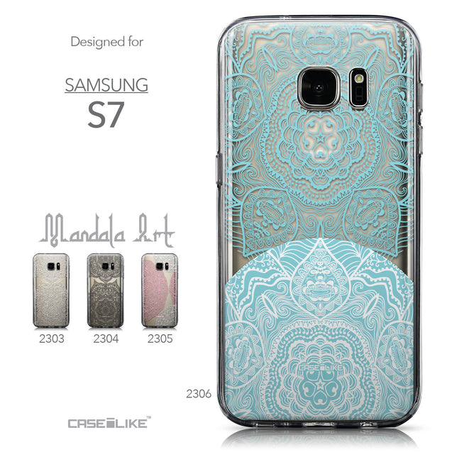 Collection - CASEiLIKE Samsung Galaxy S7 back cover Mandala Art 2306