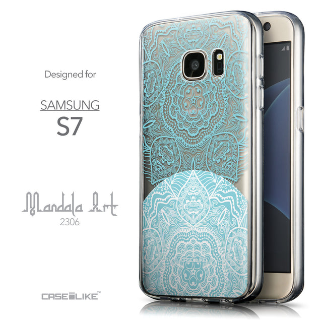 Front & Side View - CASEiLIKE Samsung Galaxy S7 back cover Mandala Art 2306