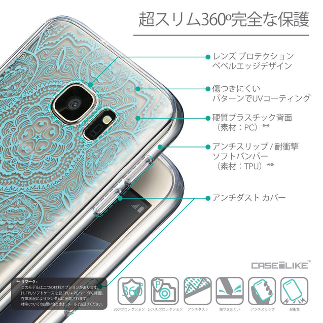 Details in Japanese - CASEiLIKE Samsung Galaxy S7 back cover Mandala Art 2306