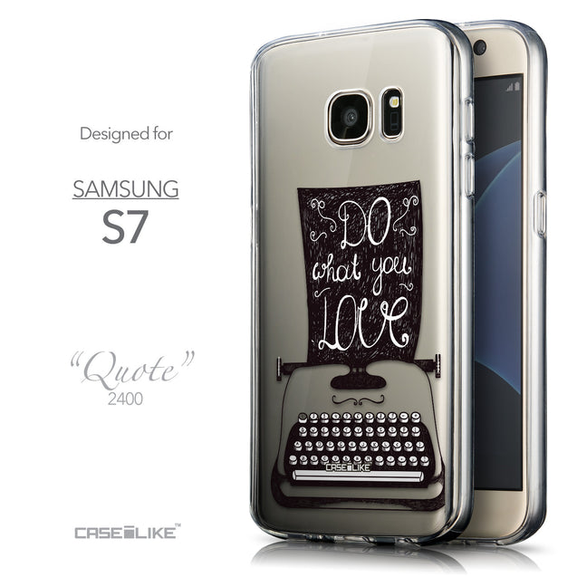 Front & Side View - CASEiLIKE Samsung Galaxy S7 back cover Quote 2400