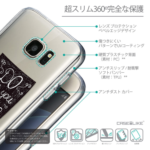 Details in Japanese - CASEiLIKE Samsung Galaxy S7 back cover Quote 2400