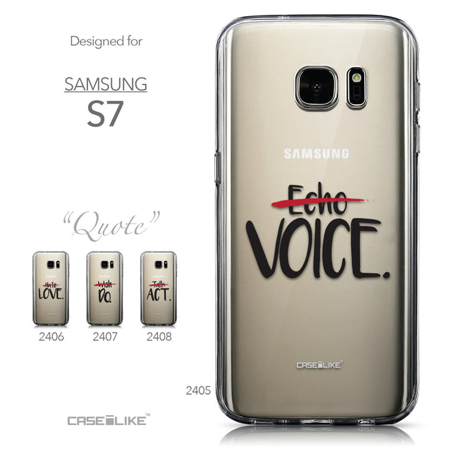 Collection - CASEiLIKE Samsung Galaxy S7 back cover Quote 2405