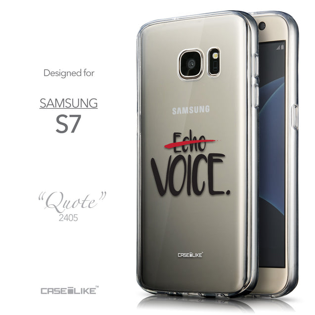Front & Side View - CASEiLIKE Samsung Galaxy S7 back cover Quote 2405