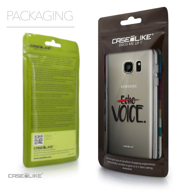 Packaging - CASEiLIKE Samsung Galaxy S7 back cover Quote 2405