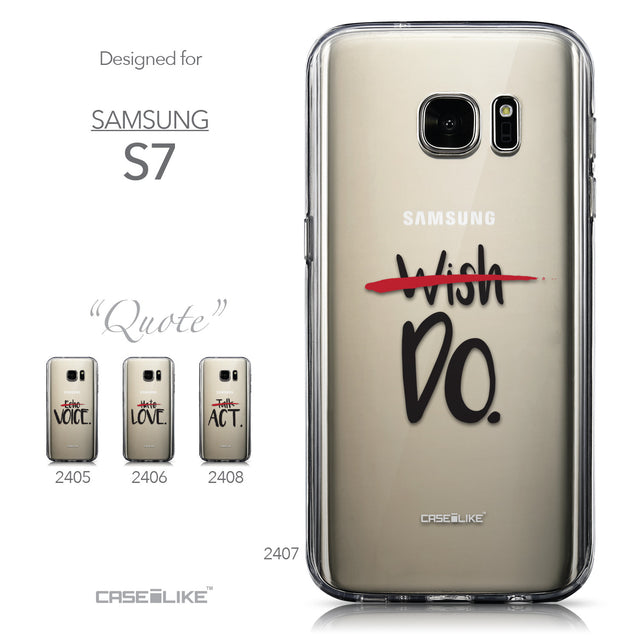 Collection - CASEiLIKE Samsung Galaxy S7 back cover Quote 2407