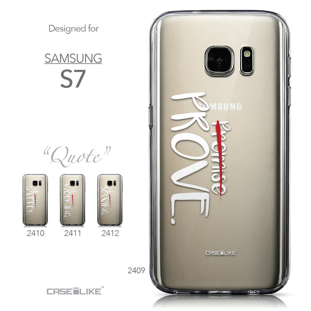 Collection - CASEiLIKE Samsung Galaxy S7 back cover Quote 2409