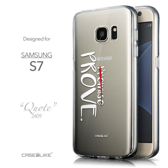 Front & Side View - CASEiLIKE Samsung Galaxy S7 back cover Quote 2409