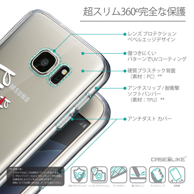 Details in Japanese - CASEiLIKE Samsung Galaxy S7 back cover Quote 2409