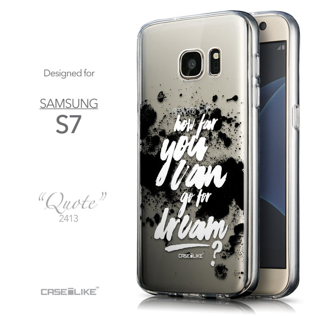 Front & Side View - CASEiLIKE Samsung Galaxy S7 back cover Quote 2413