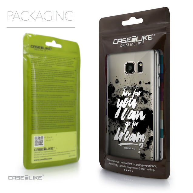 Packaging - CASEiLIKE Samsung Galaxy S7 back cover Quote 2413