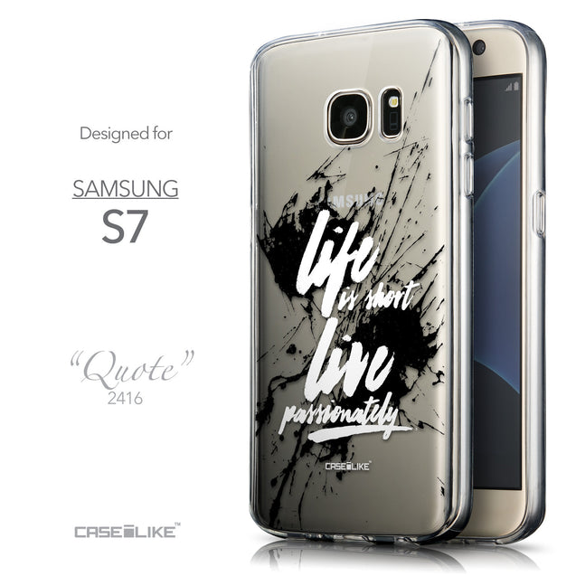 Front & Side View - CASEiLIKE Samsung Galaxy S7 back cover Quote 2416