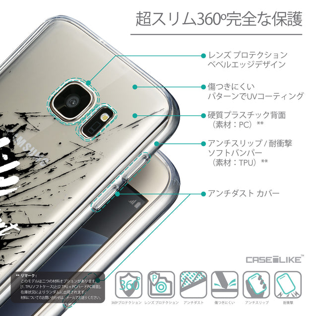 Details in Japanese - CASEiLIKE Samsung Galaxy S7 back cover Quote 2416