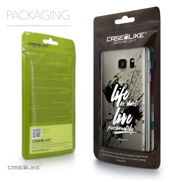 Packaging - CASEiLIKE Samsung Galaxy S7 back cover Quote 2416