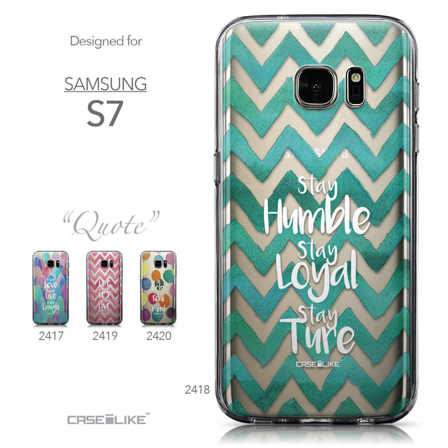 Collection - CASEiLIKE Samsung Galaxy S7 back cover Quote 2418