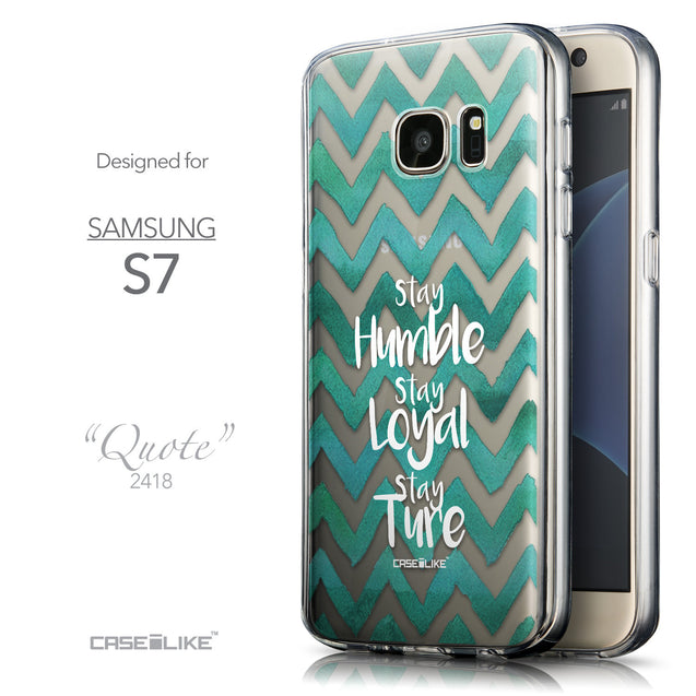 Front & Side View - CASEiLIKE Samsung Galaxy S7 back cover Quote 2418