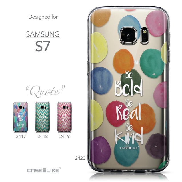 Collection - CASEiLIKE Samsung Galaxy S7 back cover Quote 2420