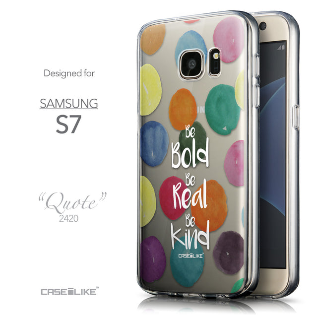 Front & Side View - CASEiLIKE Samsung Galaxy S7 back cover Quote 2420