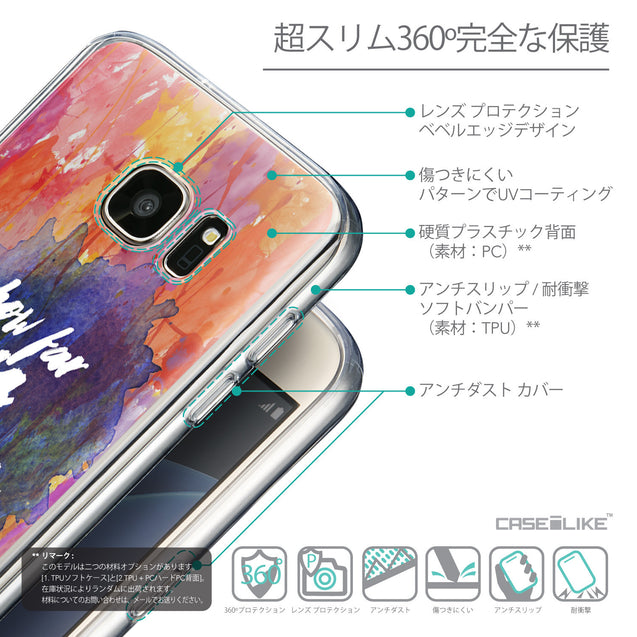 Details in Japanese - CASEiLIKE Samsung Galaxy S7 back cover Quote 2421