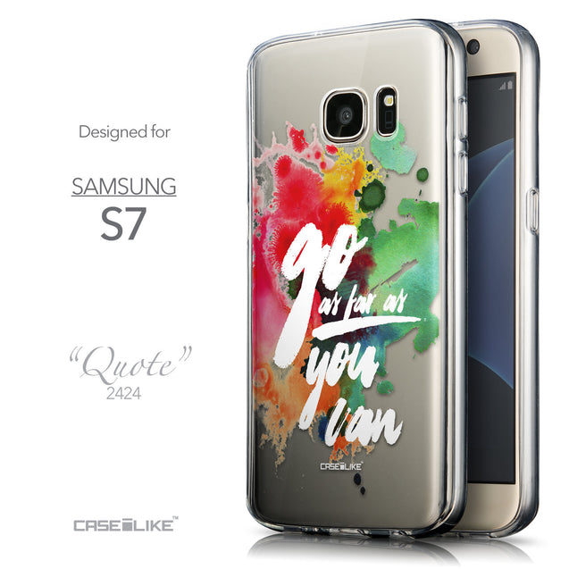 Front & Side View - CASEiLIKE Samsung Galaxy S7 back cover Quote 2424