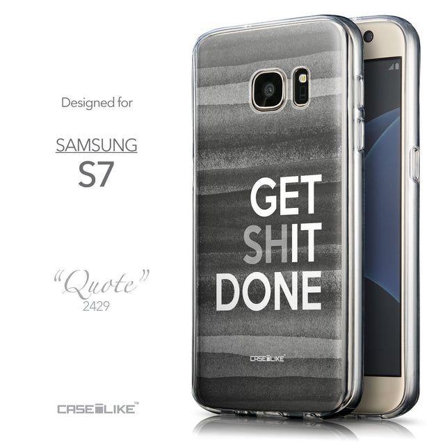 Front & Side View - CASEiLIKE Samsung Galaxy S7 back cover Quote 2429