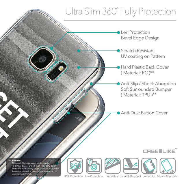 Details in English - CASEiLIKE Samsung Galaxy S7 back cover Quote 2429